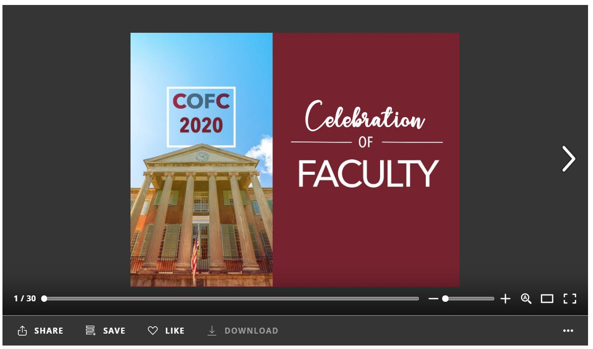 Celebration of Faculty 2020 Program